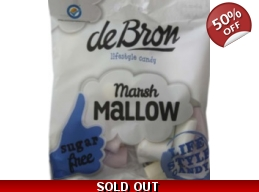 De Bron Sugar Free Marsh Mallows Sweets BBE 12/2..